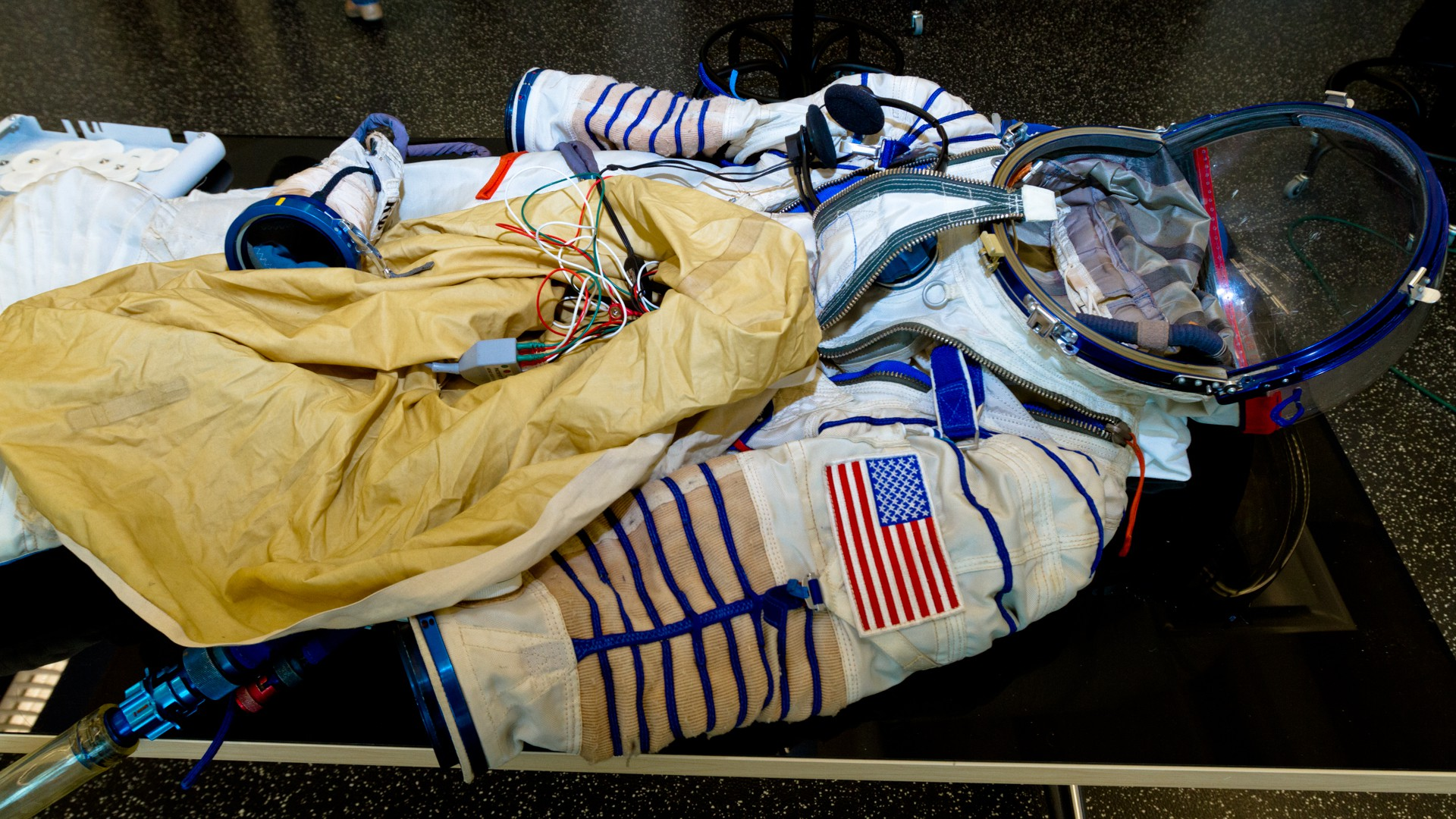 A NASA space suit